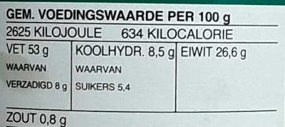 Pindakaas - Nutrition facts - nl