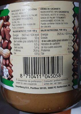 Pate d'arachide - Informations nutritionnelles - fr