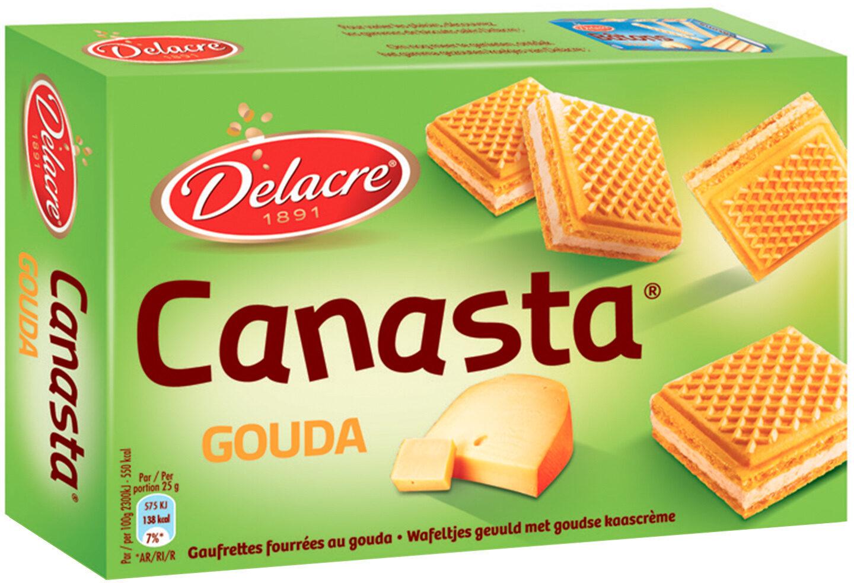 Delacre canasta biscuits aperitifs fourres gouda - Prodotto - fr