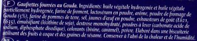 Bâtons gouda - Ingredients