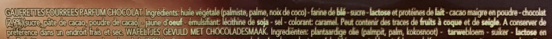 Delacre croustifondante gaufrette chocolat - Ingrédients - fr