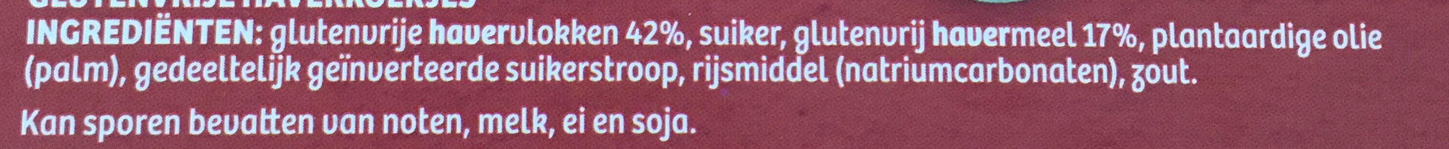 Verkade Glutenvrije Oaties - Ingrediënten - nl