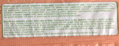 Spelt, quinoa & dadel - Ingrédients