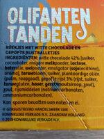 olifanten tanden - Ingrediënten - nl