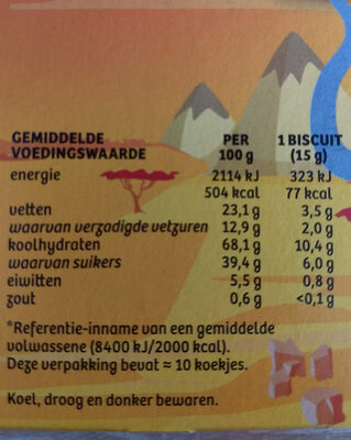 olifanten tanden - Voedingswaarden - nl