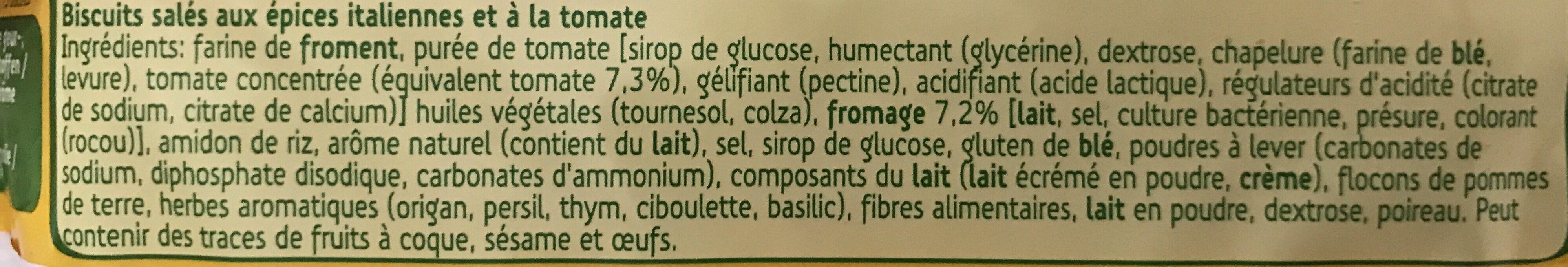 Galleta Salada Tom-italiana - Ingrédients - fr