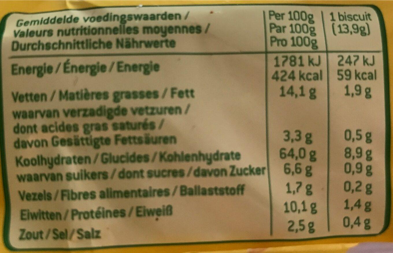 Galleta Salada Tom-italiana - Informations nutritionnelles - fr