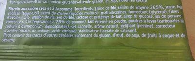 Sultana Pomme - Ingredients - fr