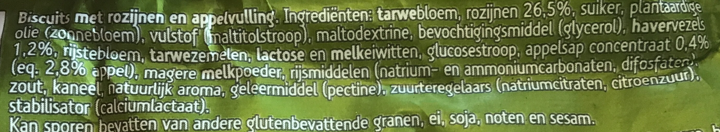 Appel - Ingredients - nl