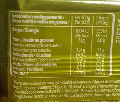 Appel pomme - Informations nutritionnelles - fr