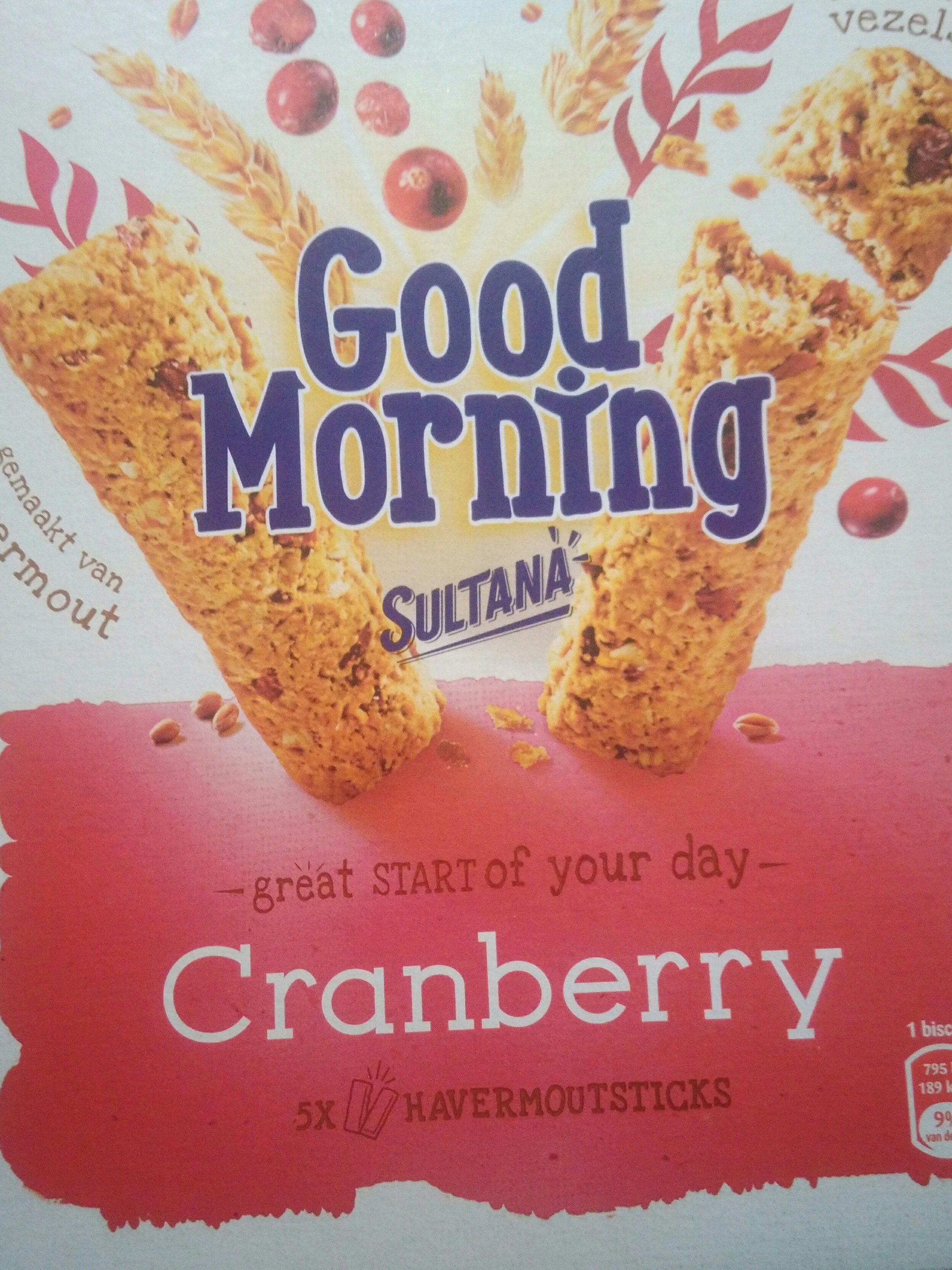 Sultana Goodmorning Cranberry - Product - fr