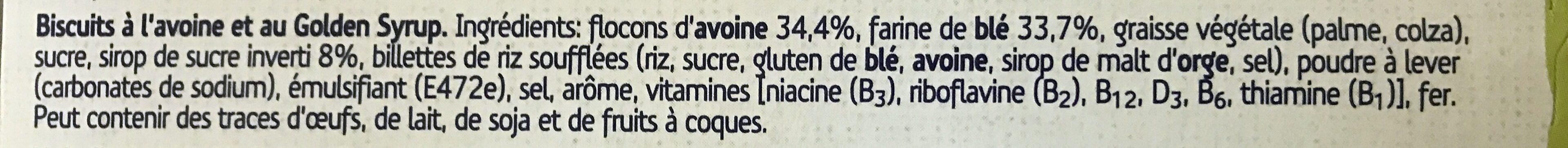 Sultana Goodmorning Golden Syrup - Ingrediënten - fr