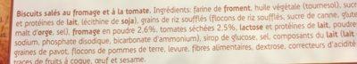 Sultana Crunchers Hartig Kaas & Tomaat - Ingrédients - fr
