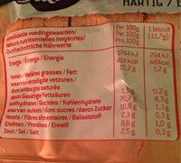 Sultana Crunchers Hartig Paprika - Informations nutritionnelles - fr