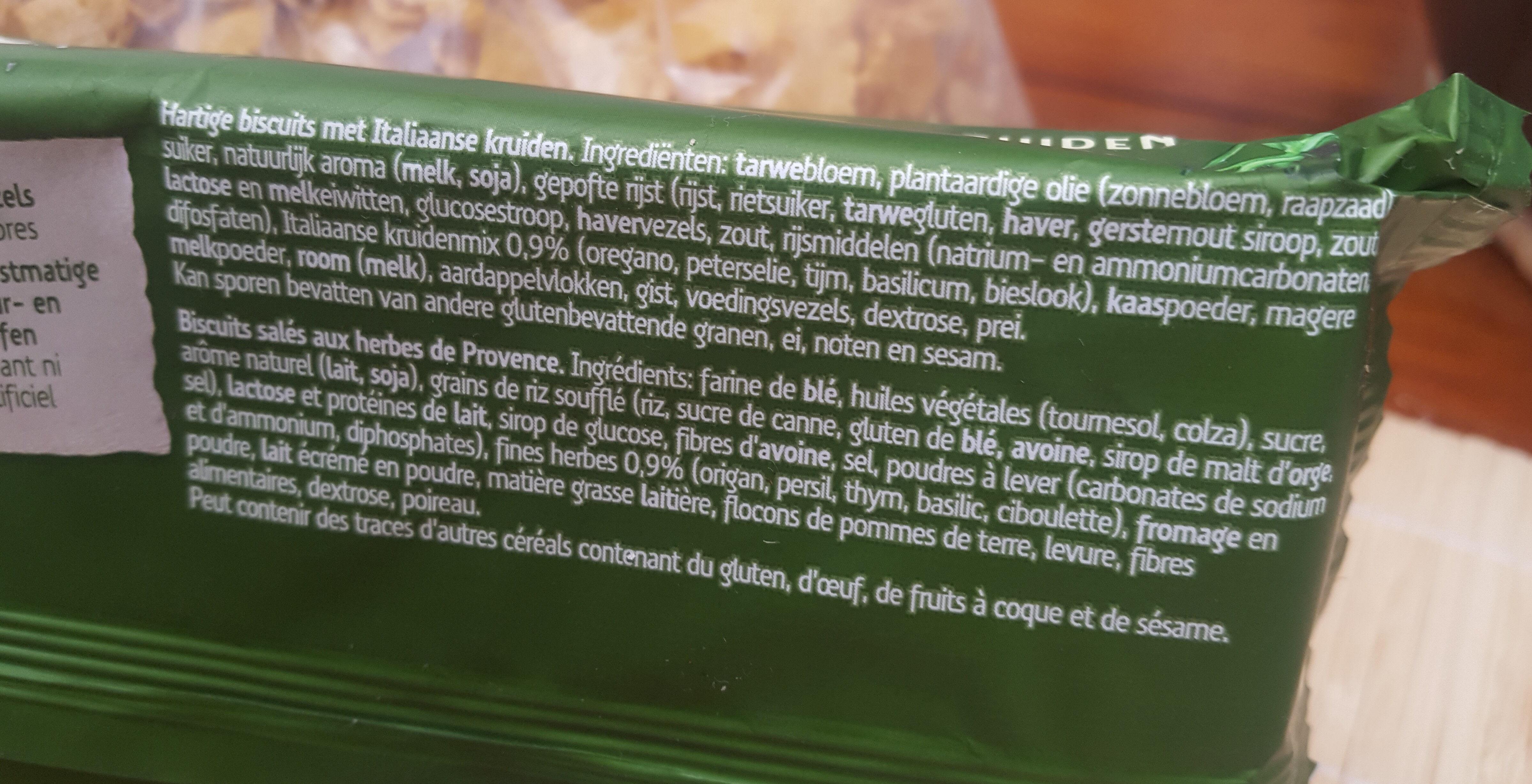 Sultana Crunchers Hartig Italiaanse Kruiden - Ingrédients - fr