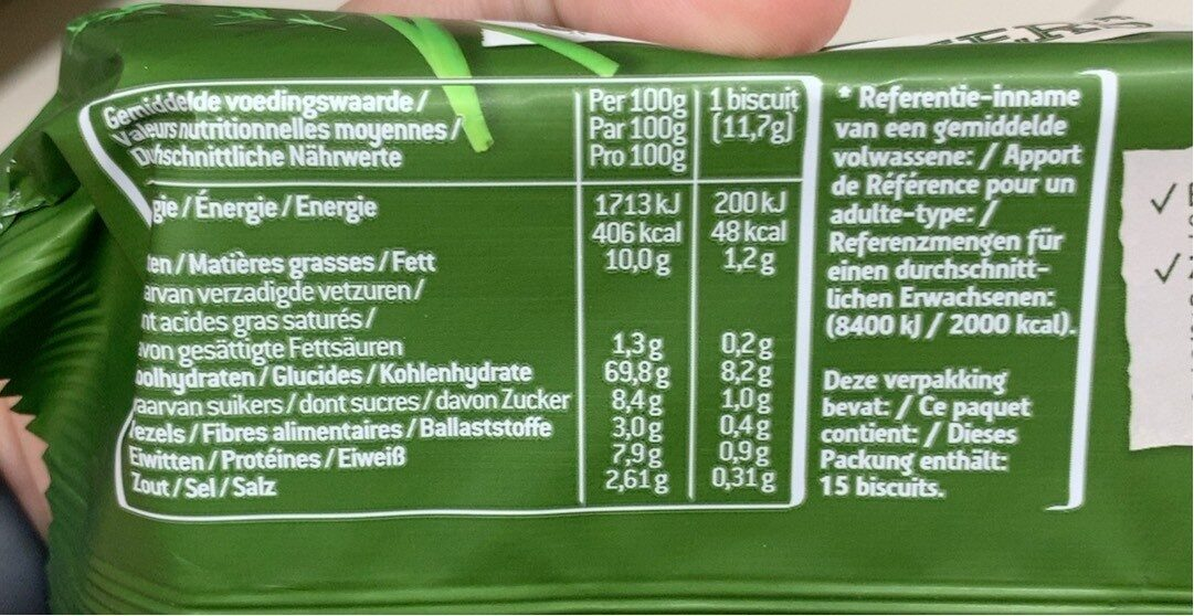 Sultana Crunchers Hartig Italiaanse Kruiden - Informations nutritionnelles - fr