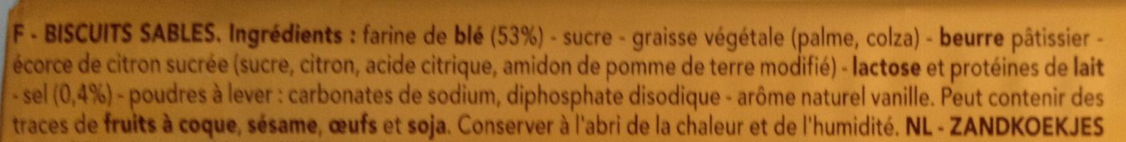 Delacre sprits original - Ingrediënten - fr