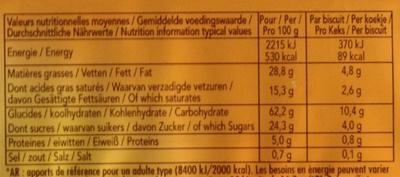Delacre sprits original - Informations nutritionnelles
