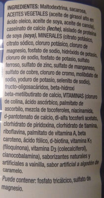 Ensure Advance Vainilla - Ingredients - es