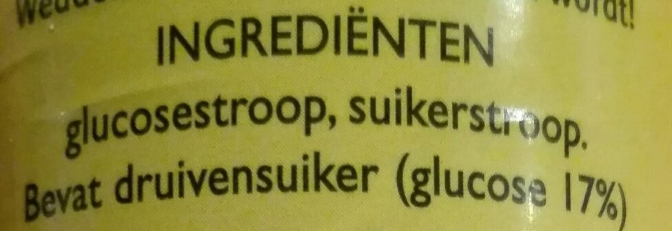 Bungel Stroopstift - Ingrediënten - nl