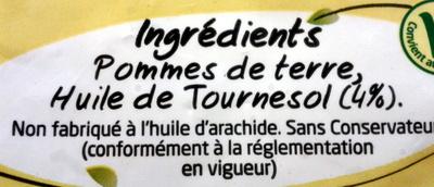 Tradition frites - Ingrédients - fr