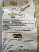 Purée de pommes de terre - Ingrediënten - fr