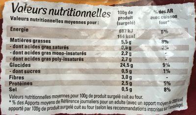 Just au Four Classique - Nutrition facts - fr