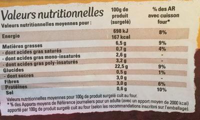 Just au Four Allumettes - Nutrition facts