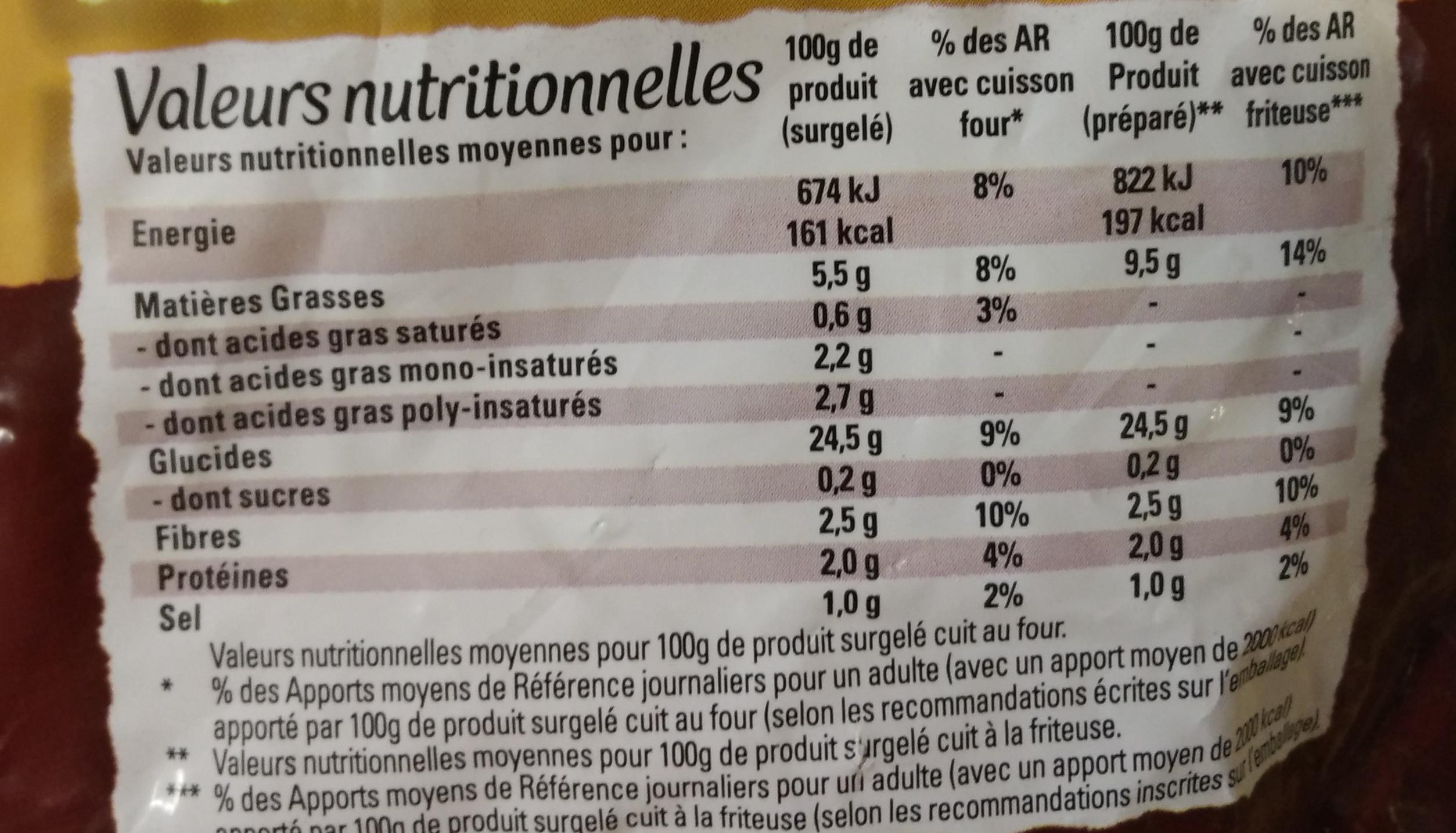 Just au Four FriStyle - Informations nutritionnelles - fr
