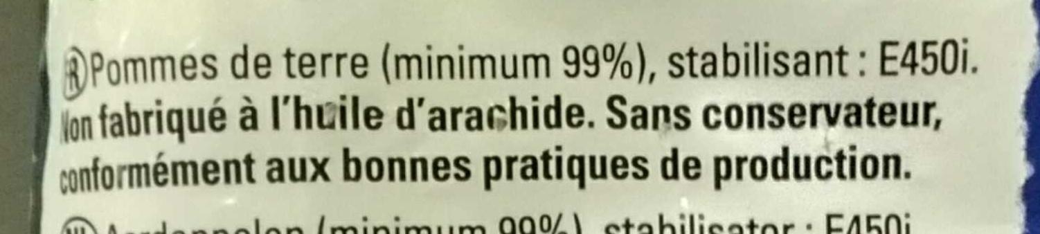Frites favorites - Ingrédients - fr