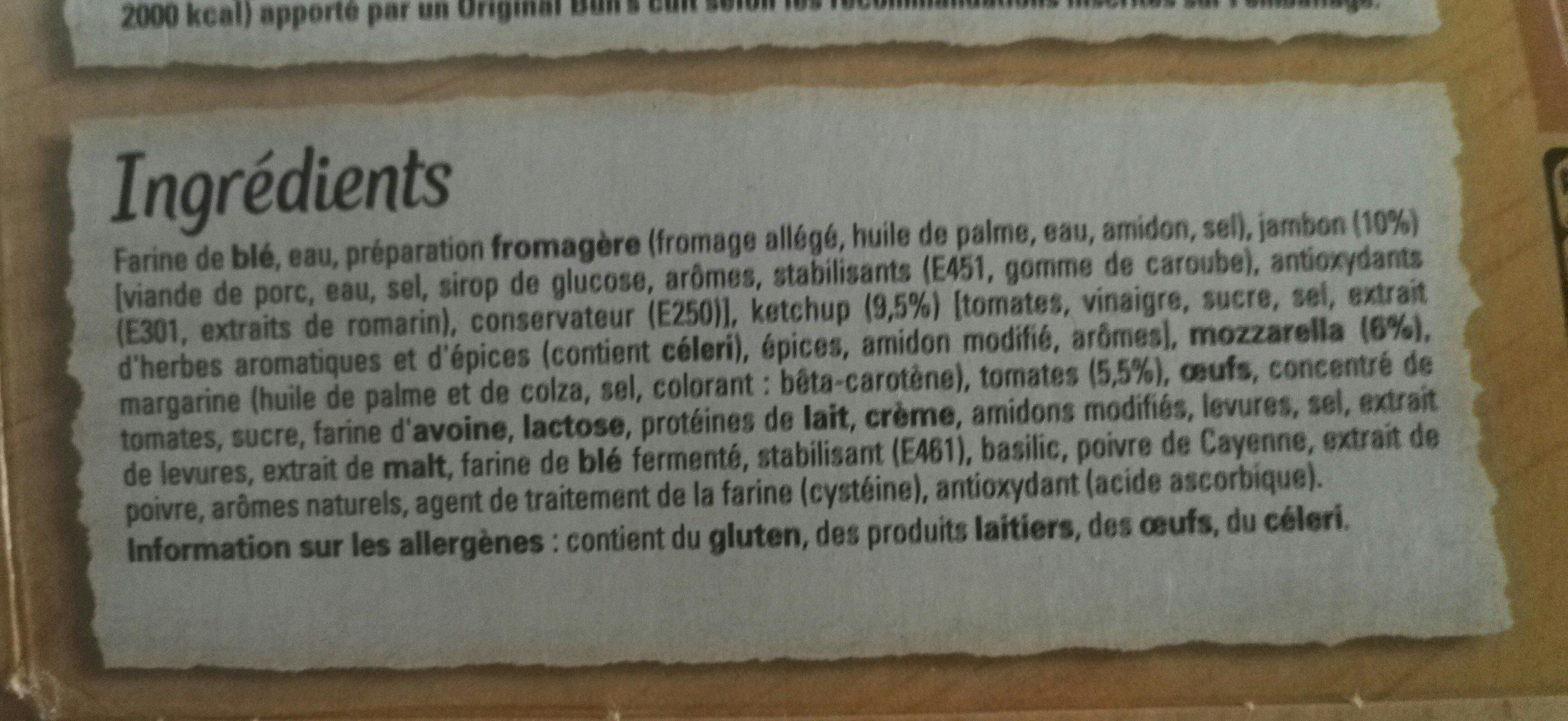 Bun's - Ingrédients - fr
