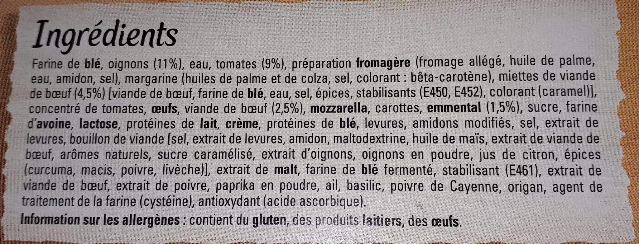 Original Bun's Bolognaise - Ingredients - fr