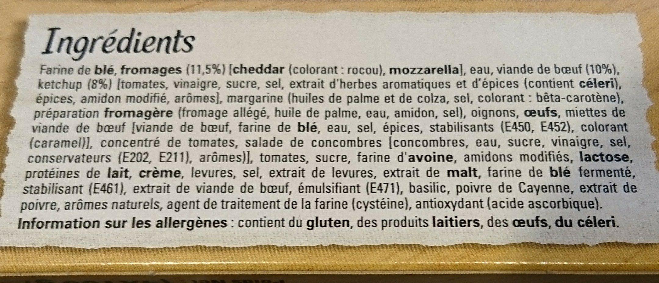 Original Bun's - Burger - Ingredients - fr
