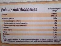 Original Bun's - Burger - Nutrition facts - fr