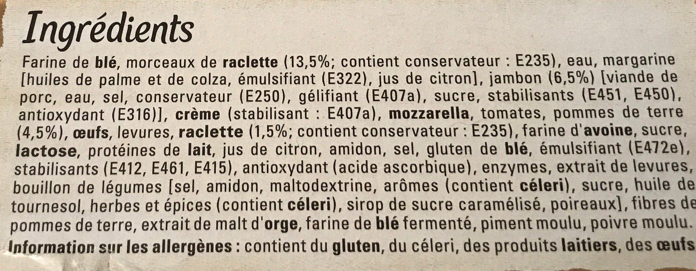 Original Bun's Raclette - Ingrediënten - fr