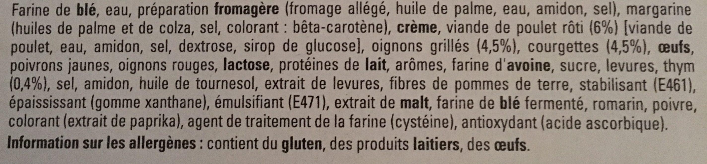 4 Original Bun's Poulet Rôti et Thym - Ingrédients - fr
