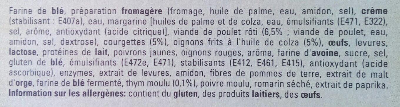 4 Original bun's poulet roti et thym - Ingredients - fr