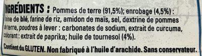 Frites Côté Resto - Ingredients - fr
