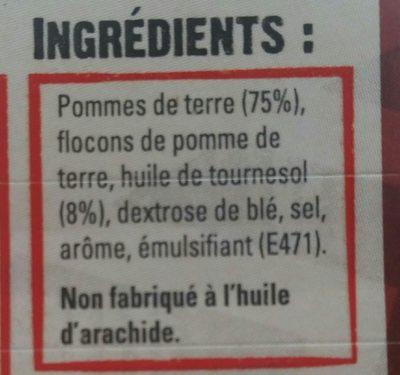 Frites Frit'up croustillantes - Ingrédients