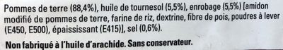 Just au Four allumettes - Ingredients - fr