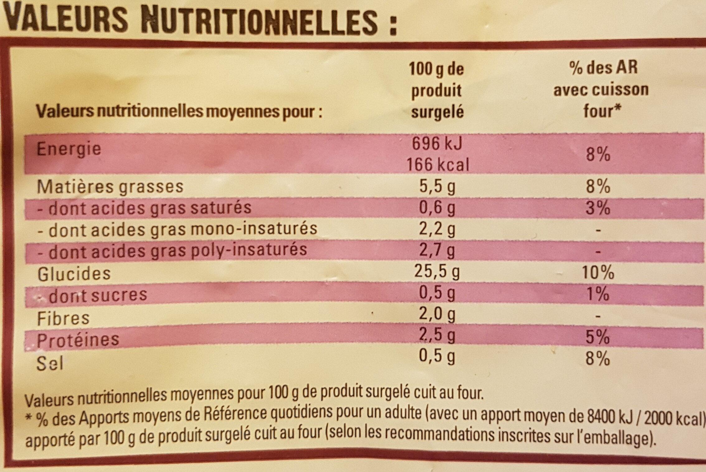 Just au Four Classique - Informations nutritionnelles - fr