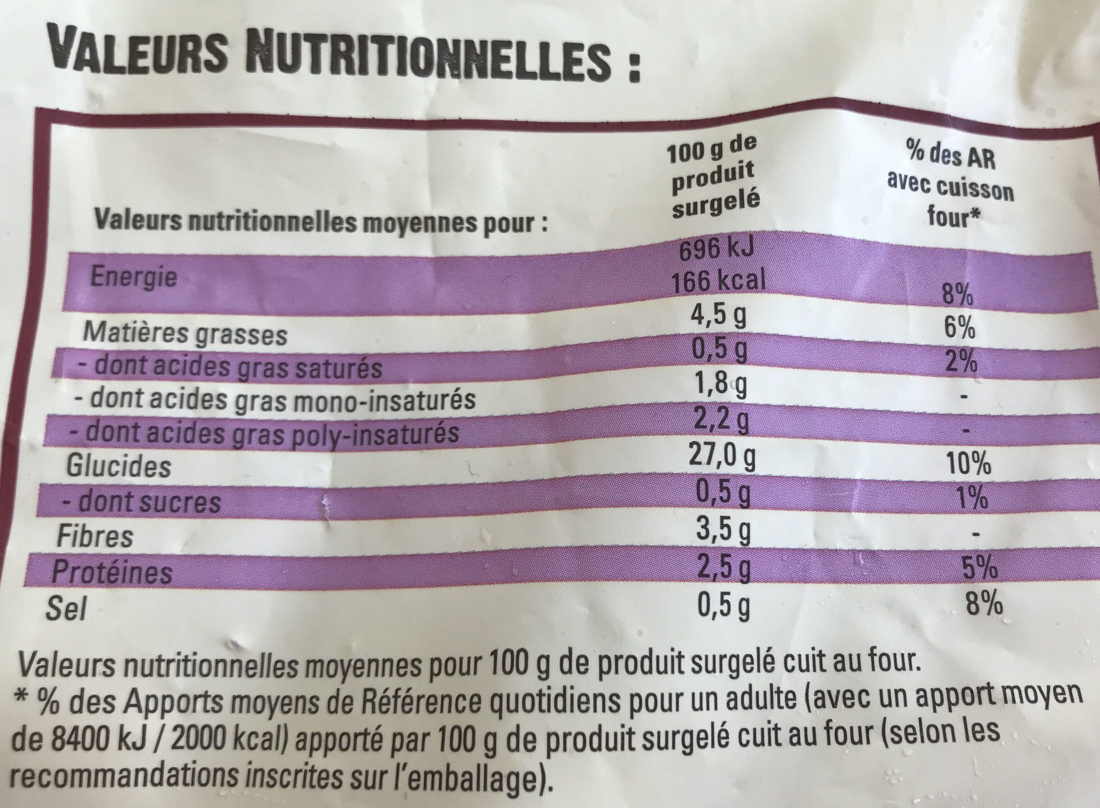 Just au Four Classique - Nutrition facts