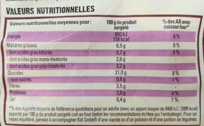 Kid Smile - Informations nutritionnelles - fr