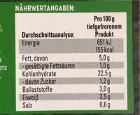 Street Fries Veggie Chilli Mild - Nährwertangaben - de