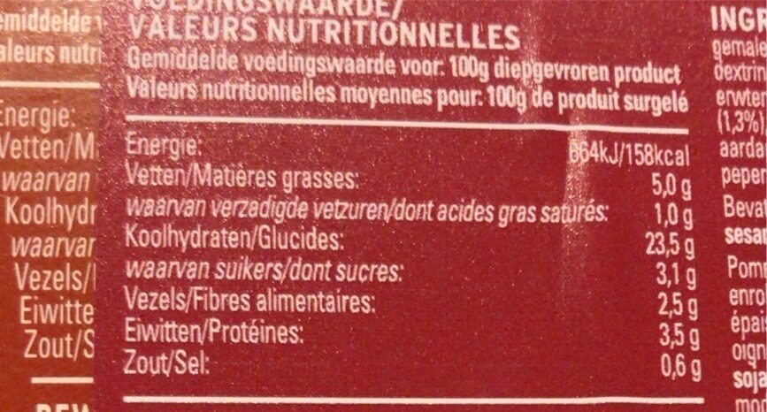 Street fries sweet bbq beef - Informations nutritionnelles - fr