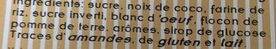 Congolais - Ingrédients - fr
