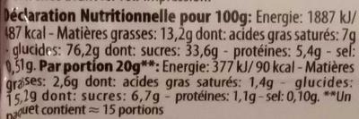 Biscuits fourrés goût chocolat - Nutrition facts