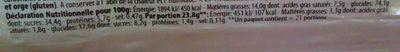 Doppelkekse - Informations nutritionnelles - fr