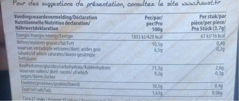 Haust Krokant Toast - Voedingswaarden - nl