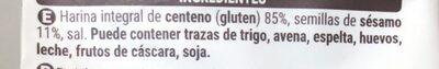Pan fibra y sesamo - Ingredients - es